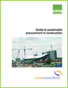 Guide to sustainable procurement in construction
